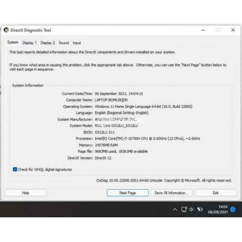 Laptop Gaming Asus ROG Strix G512LU 1660Ti-6gb Bekas Normal Fullset - Semarang
