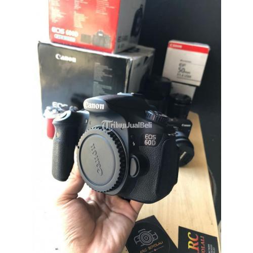 Kamera DSLR Canon 60D BO Bekas Fullset Box Mulus No Kendala - Boyolali
