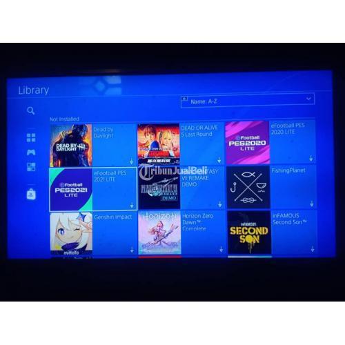 Konsol Game Sony PS4 Slim 500GB Bekas Normal Mulus Segel Harga Nego - Gresik