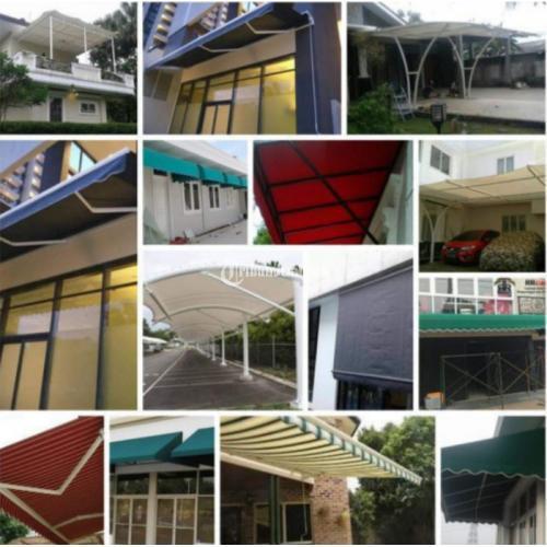 Jasa Pembuatan dan Pemasangan Canopy Bahan Kain - Bekasi