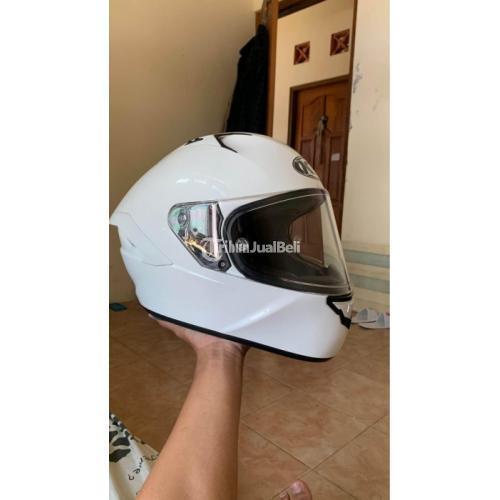 Helm KYT NFR SOLID White/Putih Size M Bekas Like New Bonus Spoiler - Jogja