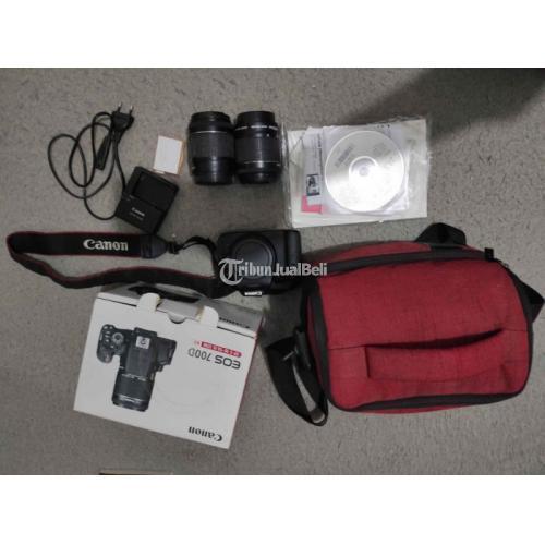 Kamera DSLR Canon 700D Fullset Lensa Kit Bekas Normal Baik - Malang