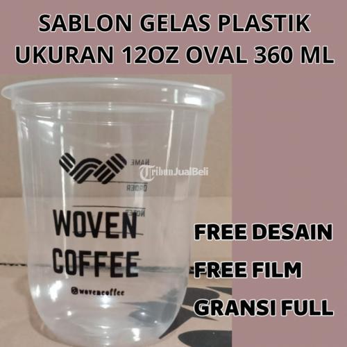 Sablon Gelas Plastik Murah Terbaik Area Jelambar - Jakarta Barat