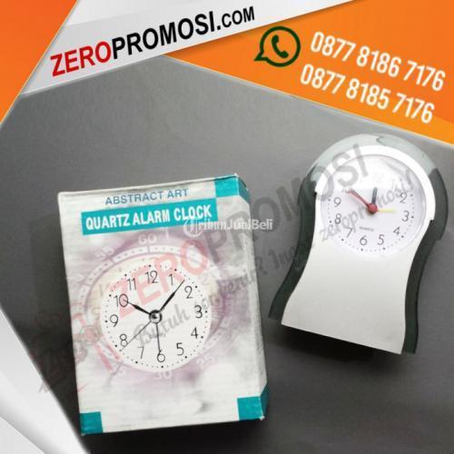 Produksi Souvenir Kantor Jam Meja Eksklusif Kode JMP-207 Custom Logo - Tangerang