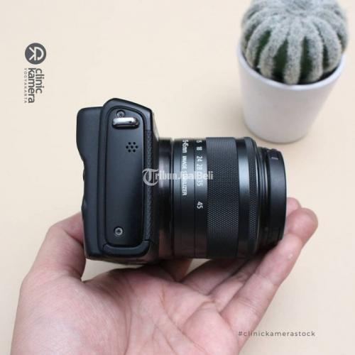Kamera Canon M100 Lensa Kit 15-45mm Bekas Fungsi Normal Garansi - Sleman