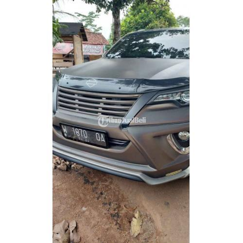 MobilToyota Fortuner VRZ AT 2016 Grey Bekas Mesin Normal Surat Lengkap - Surabaya