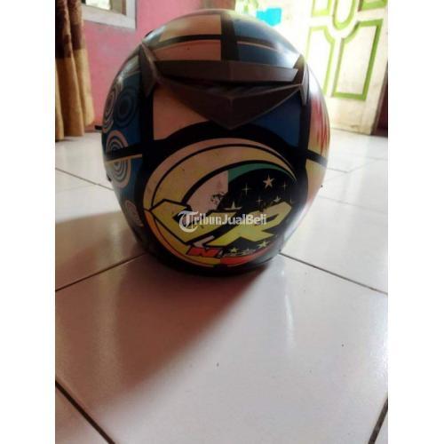 Helm NJS Double Visor Bekas Minus Pemakaian Harga Nego - Bandung