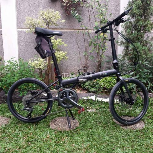Sepeda Lipat Fnhon Storm Black Doff (frame langka) Bekas Mulus Like New - Bekasi