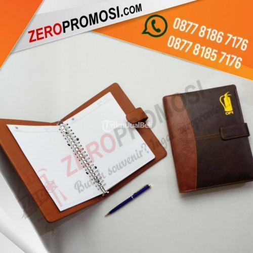 Produksi Merchandise Kantor Murah  Souvenir Buku Agenda Kulit Tipe AG-Custom Pro - Tangerang