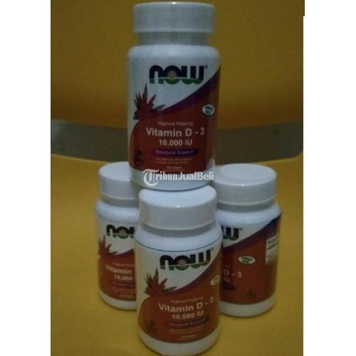 NOW Vitamin D3 10000 IU High Potency 120 Softgels untuk Tubuh - Jakarta Barat