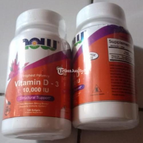 NOW Vitamin D3 10000 IU High Potency 120 Softgels - Jakarta Barat
