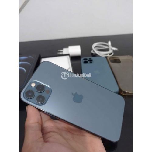 HP iPhone 12 Pro 128Gb Pacific Blue Fullset Mulus Bekas Harga Nego - Depok