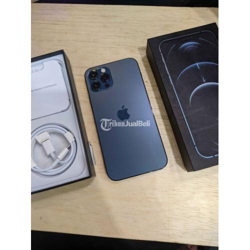 HP iPhone 12 Pro 256GB Blue Fullset Bekas Normal Mulus No Minus - Semarang