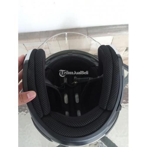 Helm Zeus 611 Silver Glossy Double Visor Size XL Bekas Like New - Jakarta