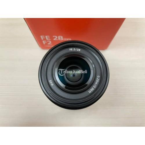Lensa Kamera Sony FE 28mm F2 Fullset Normal Second No Jamur - Jakarta