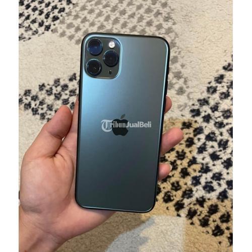 HP iPhone 11 Pro 64GB Blue Ex iBox Bekas Fullset Normal Mulus - Denpasar