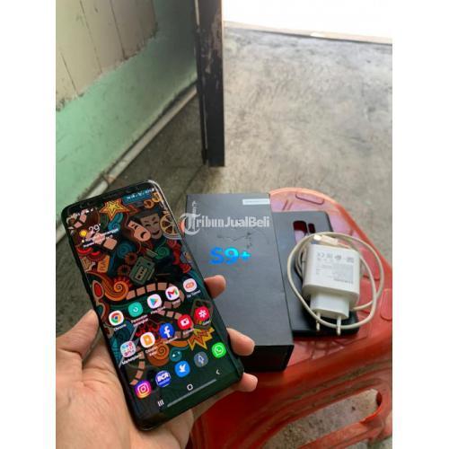 HP Samsung S9 Plus 6/64GB Bekas Fullset Mulus Like New - Surabaya