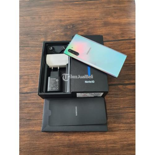HP Samsung Note 10 8/256Gb Aura Glow SEIN Bekas Terawat Mulus - Jakarta