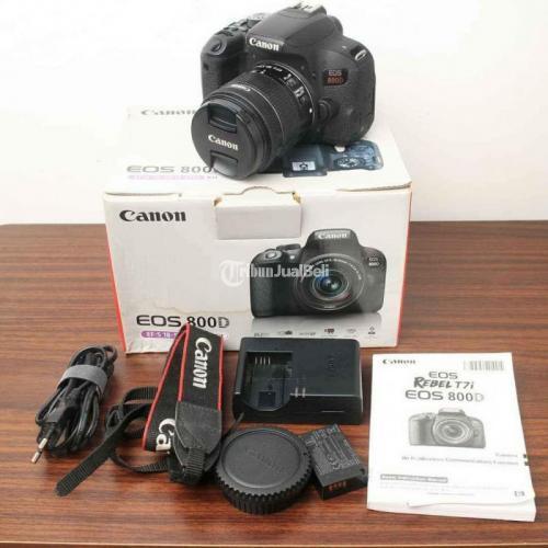 Kamera Canon 800D Lensa Kit 18-55mm Second Fullset Bebas Jamur - Gowa