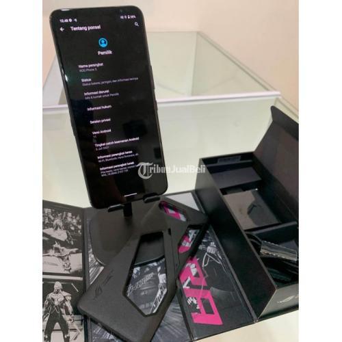 HP ASUS ROG Phone 5 Black Bekas Ram 8/128GB Mulus No Minus - Semarang