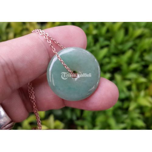 Liontin Kalung Giok Jadeite Jade Type A Natural JDT005