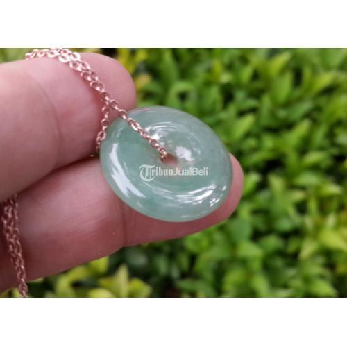 Liontin Kalung Giok Jadeite Jade Type A Natural JDT005 - Jakarta