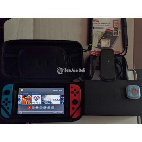 Nintendo Switch FULLSET CFW Atmosphere Bekas Like New Ori - Depok