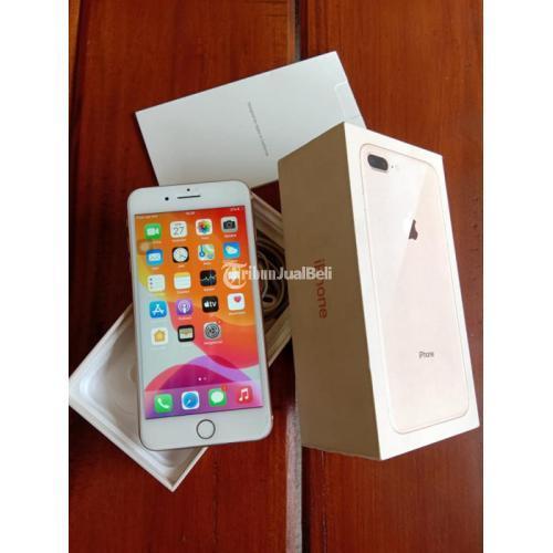 HP iPhone 8 Plus 256GB PA/A Ex Bekas iBox Gold Normal iCloud Kosong - Jogja